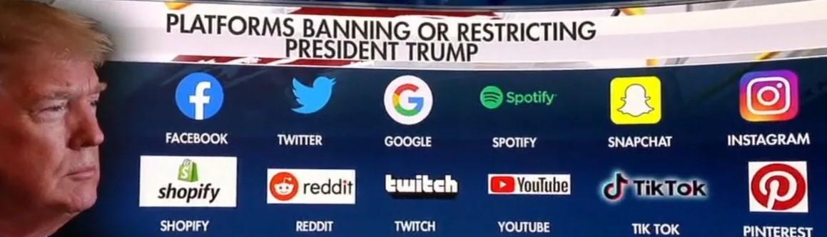 Информационный бойкот – Трампа вышибли из всех соцсетей