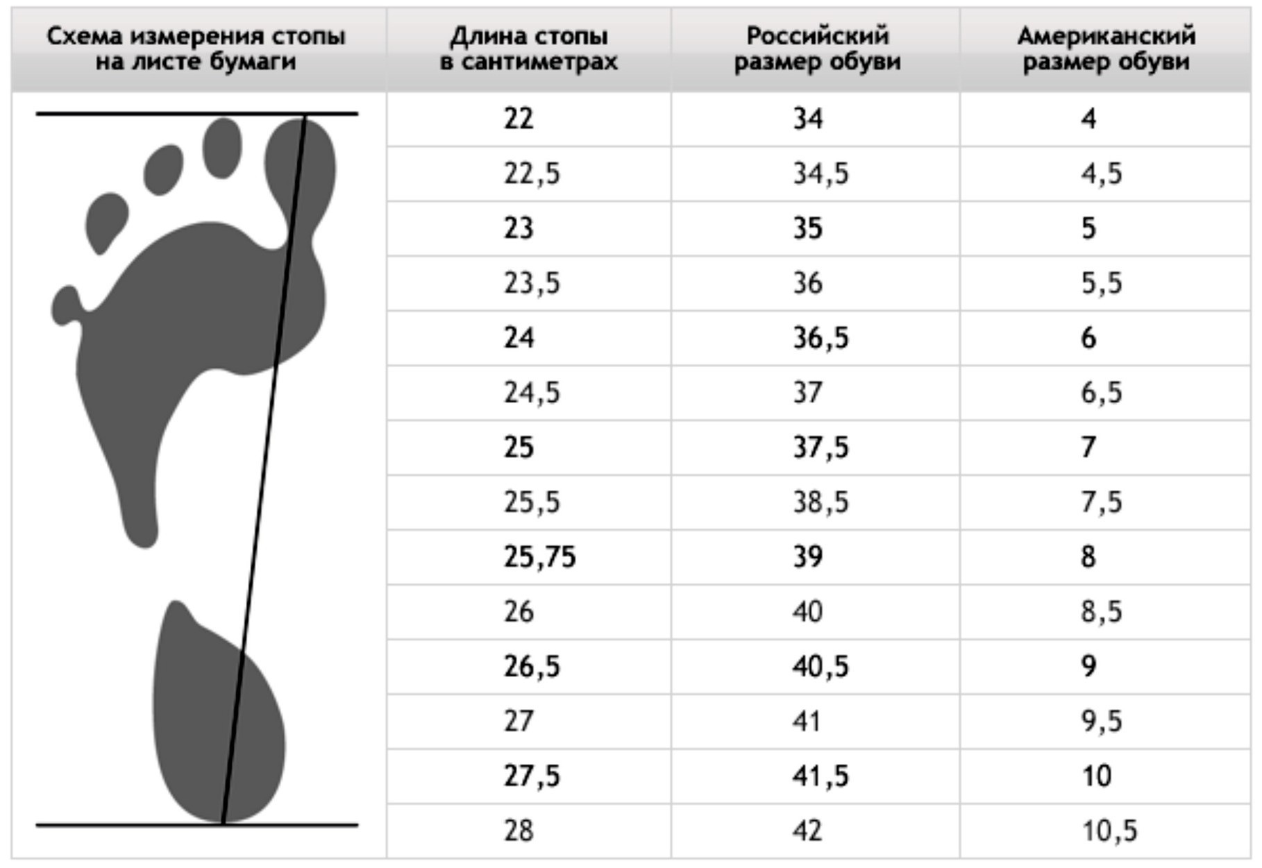 размеры обуви картинки таблица геннадия, вполне можно