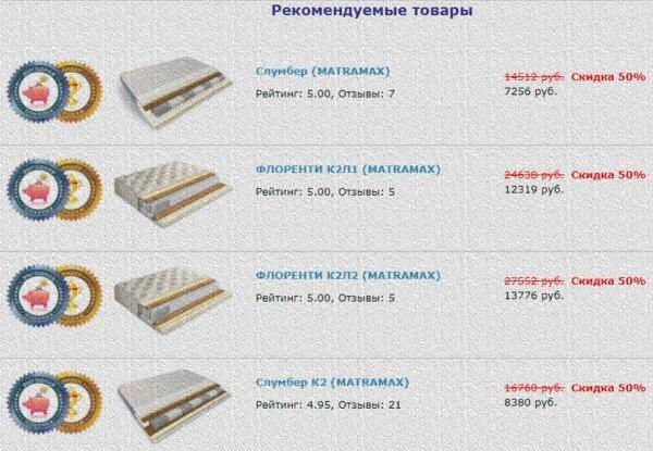ортопедические матрасы mator.ru