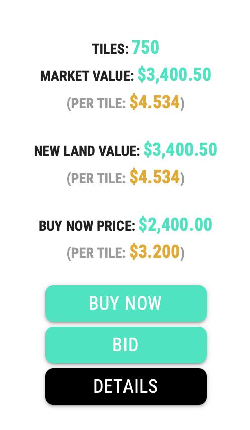 Продажа и покупка Земли в Earth2.io